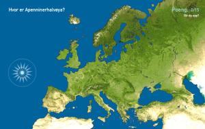 Halvøyer i Europa. Toporopa