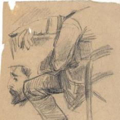 Estudios de mano, rostro y cuerpo masculino