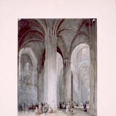 Interior de la catedral de Sevilla (España)