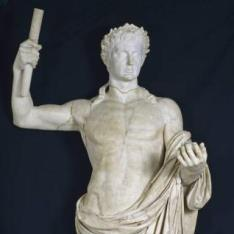 Augusto o Tiberio en desnudo heroico