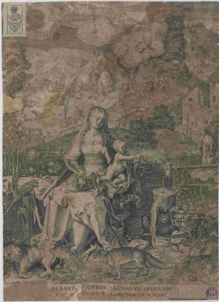 La Virgen con el Niño en un paisaje