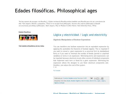 Edades filosóficas. Philosophical ages. Bilingual blog of Philosophy