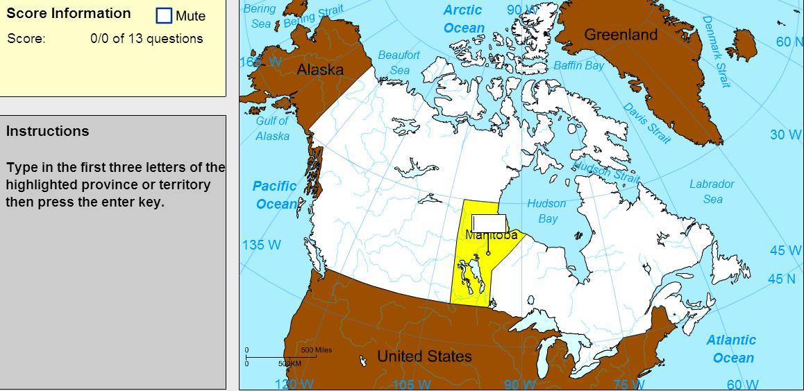 Capitals of Canada. Expert. Sheppard Software
