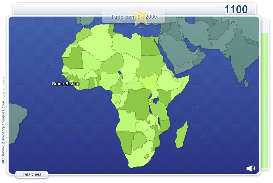 Geo Quizz África.  Jogos geográficos
