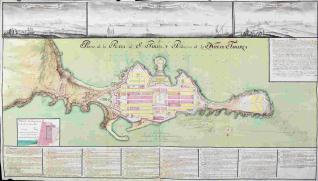 Plano de la Plaza de S. Pablo y Población de Nueva Tabarca