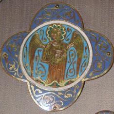 Placa de esmalte con ángel