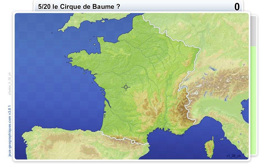 Géographie physique de France. Jeux géographiques