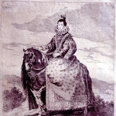 Retrato ecuestre de Margarita de Austria