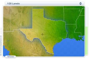 Cities of Texas . Geography map games