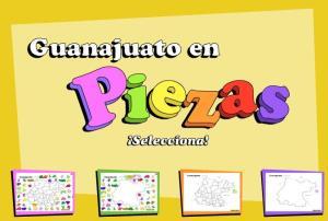 Municipios de Guanajuato. Puzzle. INEGI de México