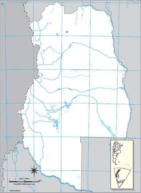 Mapa mudo de Mendoza. IGN de Argentina