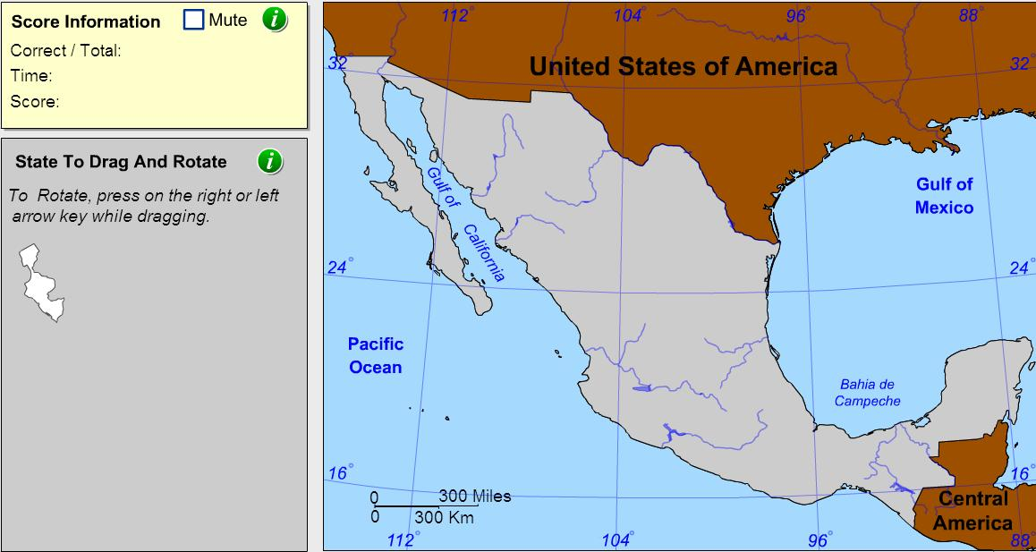 States of Mexico. Geographer. Sheppard Software