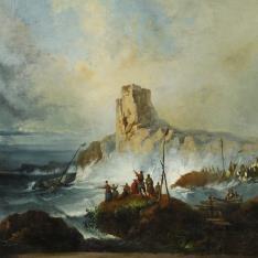 Un naufragio junto a la costa