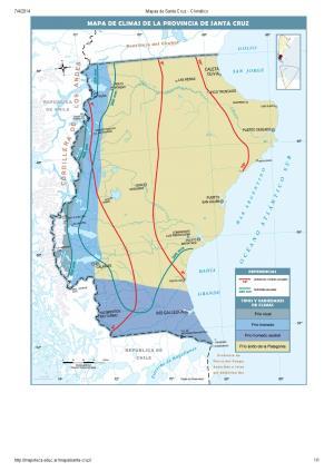 Mapa climático de Santa Cruz. Mapoteca de Educ.ar
