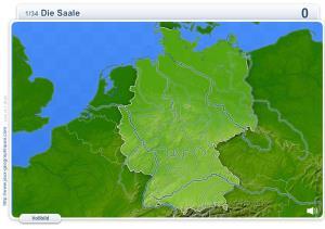 Flüsse Deutschlands. Geographie Spiele