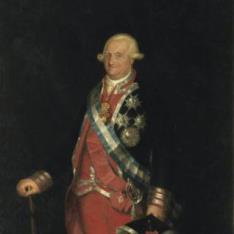 Carlos IV, rey de España, en traje de coronel de los Guardias de Corps