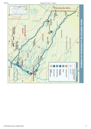 Mapa turístico de Formosa. Mapoteca de Educ.ar