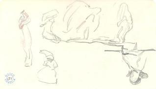 Figuras con mantos y figura femenina