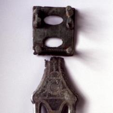 Broche de cinturón celtibérico, tipo la Bureba