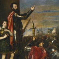 Alocución del marqués del Vasto a sus soldados