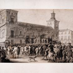 Proclamación del rey Carlos IV en la Plaza de la Villa