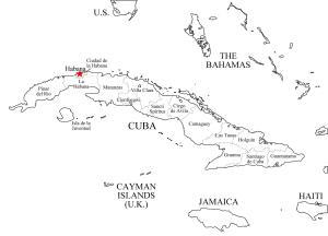 Mapa de provincias de Cuba. Freemap