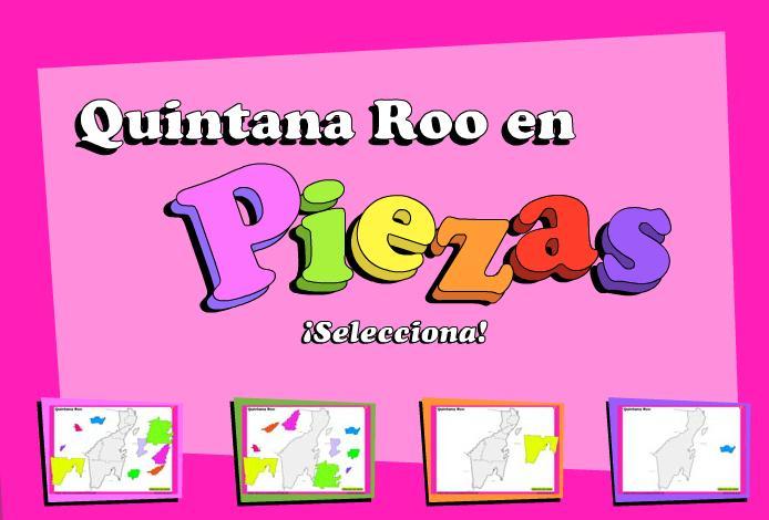 Municipios de Quintana Roo. Puzzle. INEGI de México