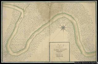 Plan des Etablisemens de Sa Maje. Catholique a la Riviere D'Hiberville