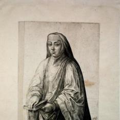 Retrato María de Austria y Portugal, hija de Carlos V