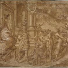Procesión con Alejandro Farnesio, duque de Parma
