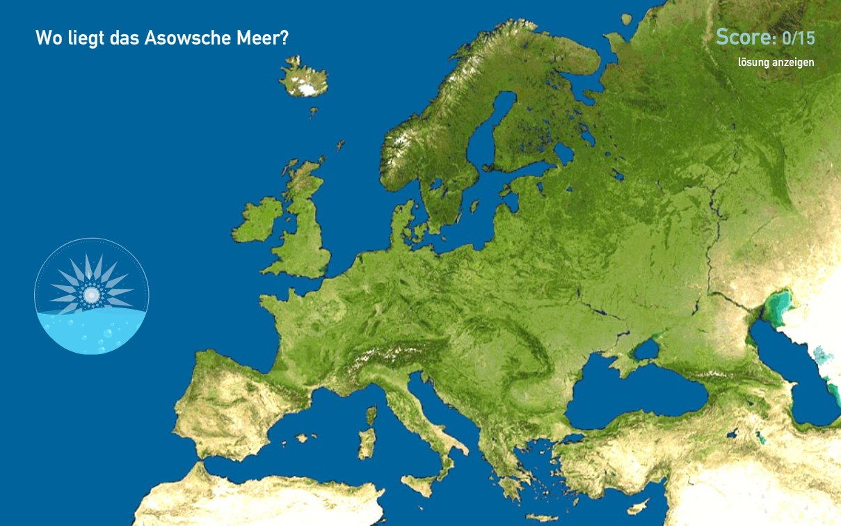 Meere in Europa. Toporopa