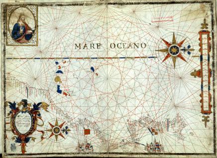 Carta de las costas del mar Mediterráneo