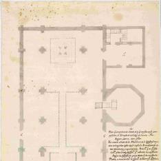 Planta del proyecto de reforma de iglesia Colegial de Santa Fe (Granada)