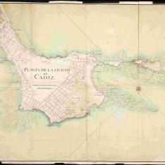 Planta de la ciudad de Cádiz