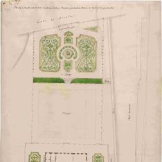 Idea de un Terrado sobre la Calle de Alcalá, Jardín y Picadero para la Casa Palacio del Duque de Alba