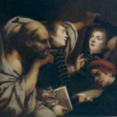 Sócrates y dos alumnos