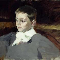 Estudio para el retrato del hijo del Sr. Granzow - Retrato del niño Casimiro Granzow