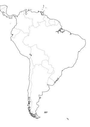 Mapa de países de Sudamérica. Freemap