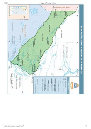 Mapa de capitales de Formosa. Mapoteca de Educ.ar