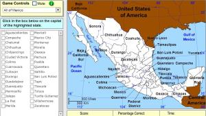 Capitals of Mexico. Expert. Sheppard Software