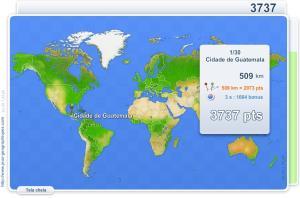 Cidades do Mundo.  Jogos geográficos
