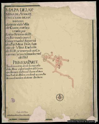Mapa de la Rl. Mina de Azogue