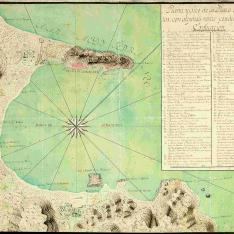 Plano y sitio de la Plaza de Gibraltar
