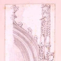 Detalle de una portada gótica del palacio de Mosén Sorell de Valencia