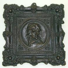 Placa con el retrato de Napoleón Bonaparte