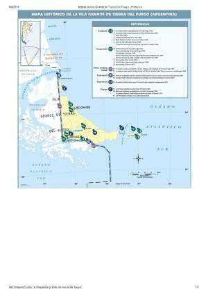 Mapa histórico de Isla Grande de Tierra del Fuego. Mapoteca de Educ.ar