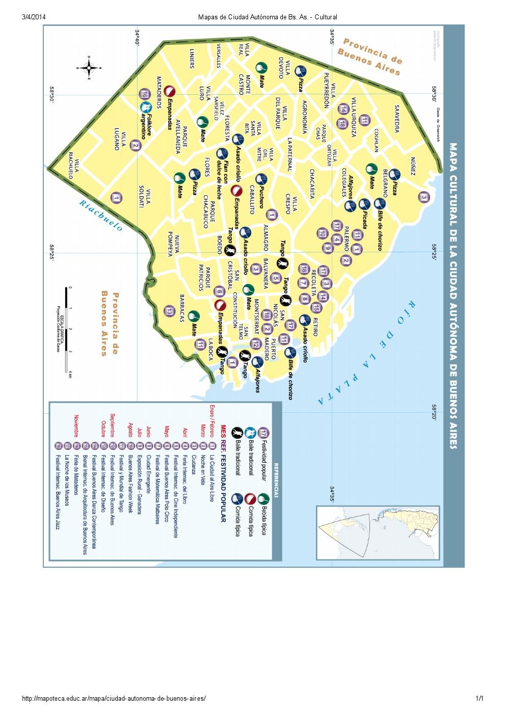 Mapa cultural de la ciudad de Buenos Aires. Mapoteca de Educ.ar