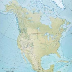 Mapa de ríos y montañas de América del Norte. Blografos
