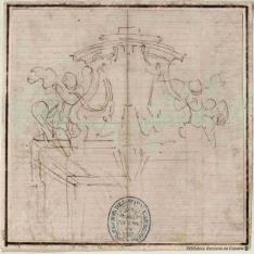 Escudo cardenalicio para sobrepuerta