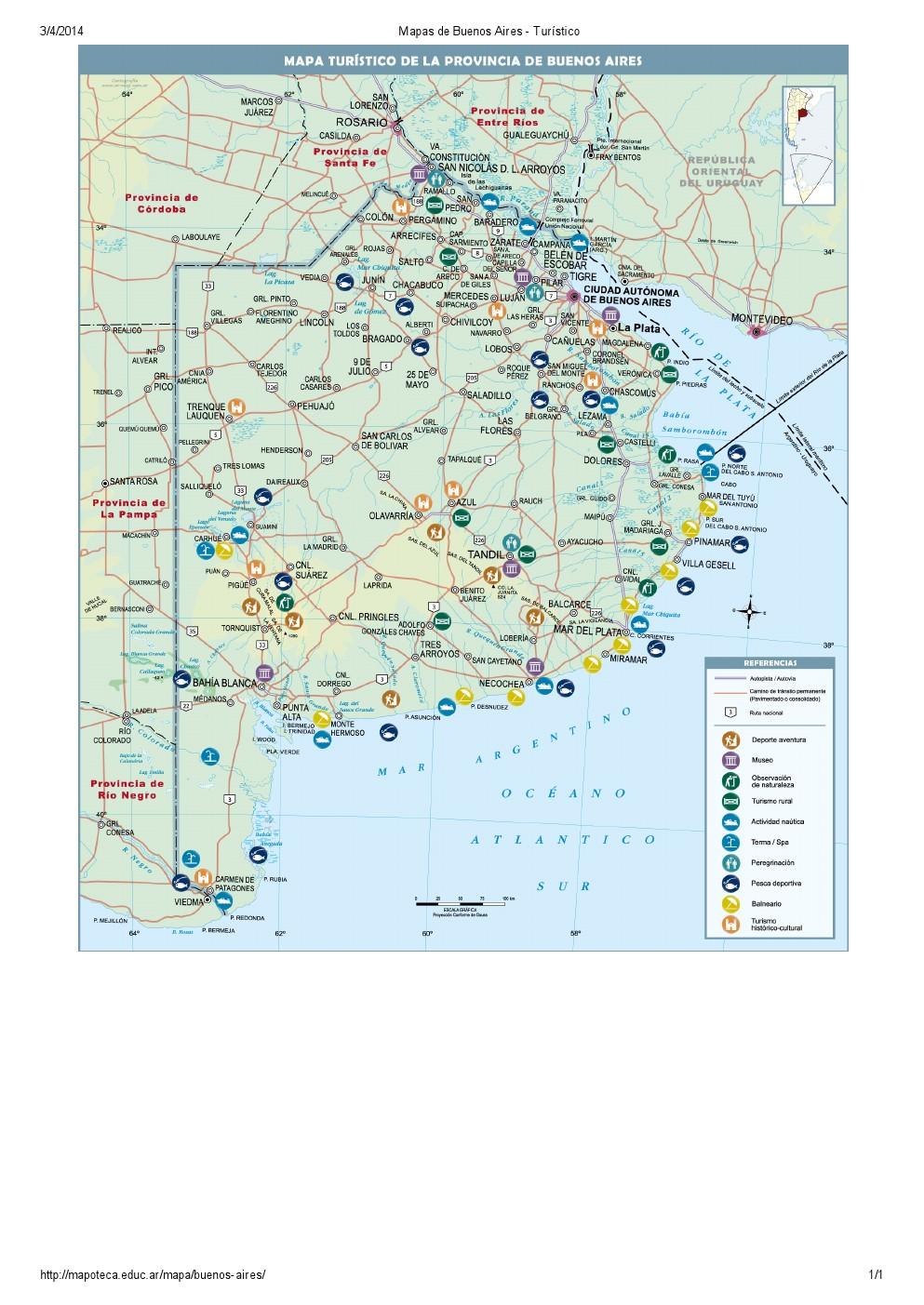 Mapa turístico de Buenos Aires. Mapoteca de Educ.ar